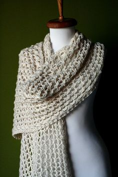 The ultra-simple Cashmere Wrap: free pattern