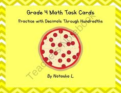 Month-End Giveaway! Enter for your chance to win 1 of 2.  Math Task Cards: Decimals through Hundredths (10 pages) from Natasha L's Corner on TeachersNotebook.com (Ends on on 10-31-2014)  For the last week of October, I'm offering my decimals task cards as a giveaway.  Two winners will be chosen at the end.  Those who enter this giveaway but don't win will have the chance to purchase the task cards at a discount.