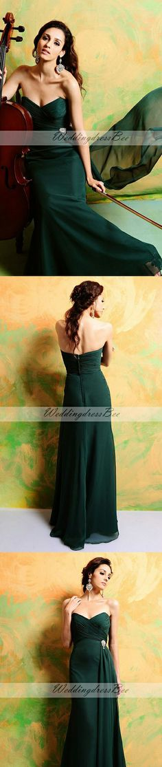 dark green chiffon dress