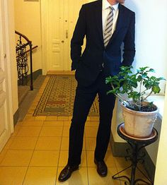 My new favorite suit, a navy blue one from Indochino. Great cut and fit!