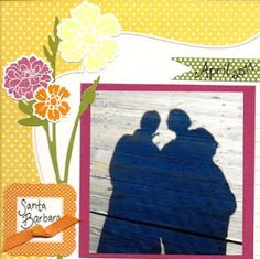 6x6 scrapbook page
