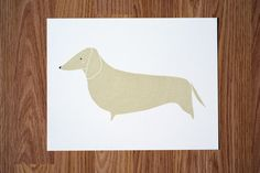 Dachshund Illustration by Gingiber