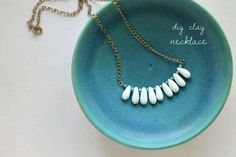 DIY Clay Teardrops Necklace