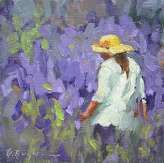 """Walking in Lavender"" - Original Fine Art for Sale - © Bruce Bingham"