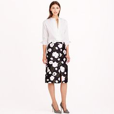 J.Crew - Collection midnight floral skirt