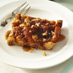 Pumpkin-Walnut Baked French Toast with Maple-Coffee Syrup