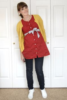 Minus the maternity situation, this outfit is adorable.