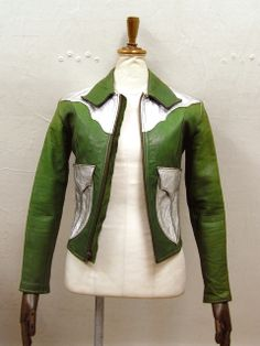 East West green and silver jacket