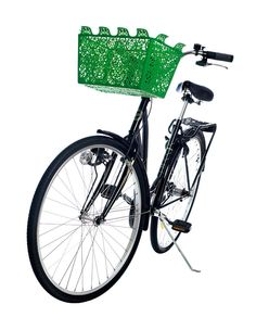 Bike Basket with Lace Design