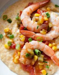 Slimmed Down Shrimp and Grits Recipe: 277 calories, 26 g protein. | via @SparkPeople #food #seafood #southern #healthy