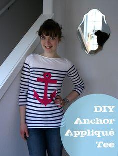 DIY Anchor applique tee