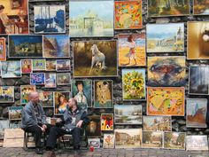 galleries, walks, artworks, sunflowers, street art, krakow poland, travel, paintings, jest polska