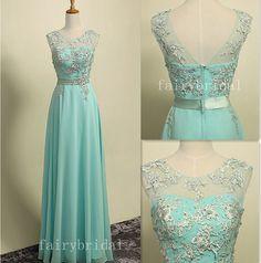 Blue prom dresses, Teal Blue prom dresses, dresses for prom, prom dresses 2014, chiffon prom dresses,lace prom dress, long dress FB1041 on Etsy, $173.08 AUD
