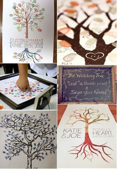 "Guestbook Tree. ""Leaf"" A Thumb Print :)"