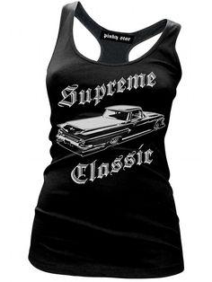 "Women's ""Supreme Classic"" Racerback Tank by Pinky Star (Black) #InkedShop #tanktop #tank #top #style #fashion #womenswear #womensclothing"