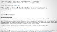 Microsoft recently announced a security advisory warning of specially crafted Microsoft Office files that can give an attacker the same user rights as the user that opens it. The vulnerability affects all supported releases of Microsoft Windows, excluding Windows Server 2003.