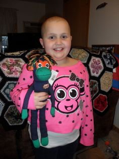 Alannah and NoMo the all cancer-fighting SMAC! monkey!! #cancer #SMACancer #beatcancer $23.99