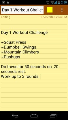 Day 1 Workout Challenge