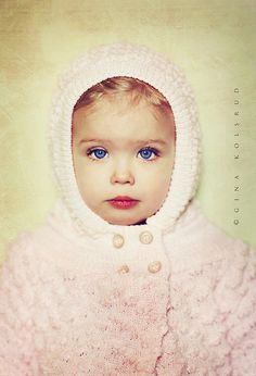 Oh my! Beautiful photo & little girl soft pink, baby baby, beautiful children, baby knits, snow bunnies, angels, baby blues, kid, eye