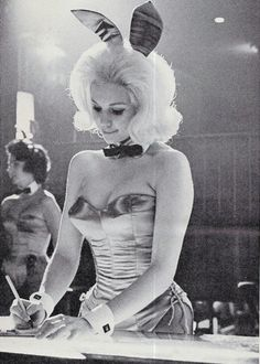 The original bunny. Compared to how modern party girls act, there's something awesome about a 60's girl in bunny ears.