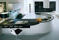 U-Shaped Modern Kitchen