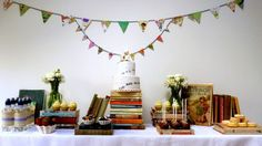 Library themed dessert bar