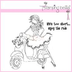 stamping bella uptown girls | Stamping Bella Rubber Stamp - Uptown Girl Vienna And Her Vespa ...