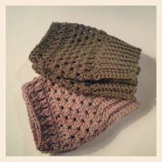 leg warmers/ crochet boot cuffs