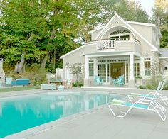 pool areas, guest cottage, oasi, dream homes, relaxing places
