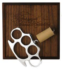 Bourgeois Brass Knuckle Corkscrew by Chromoly (Canada)  #product #wine #idea