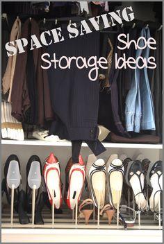 Space saving shoe storage ideas