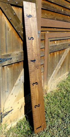 Wooden ruler growth chart to chronicle the growth of your little cuties!