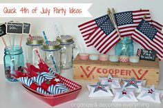 Quick 4th of July Party Ideas - Organize and Decorate Everything