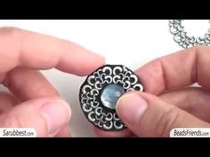 Earrings made with painted glass cabs - Post earring and pendant earring - YouTube