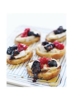 Smashed Berry & Brie Crostini from Sweet Paul