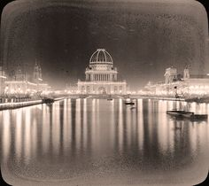 The White City at night, 1893 World's Columbian Exposition