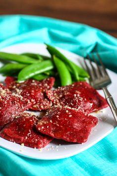 Homemade Beet Ravioli