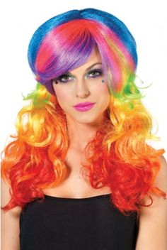 Great for halloween! I could be rainbow brite!