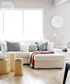 big white couch