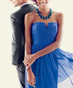 Royal Blue J.Crew Dress: Love the neckline--so pretty!