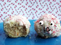 Peppermint Snowball Cookies #recipe