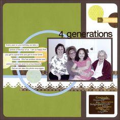 Gratitude Photo Album Accents Scrapbooking Layout Idea by Creative Memories