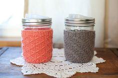 Ravelry: His and Hers Mason Jar Mug Cozy pattern by Maegan Beishline