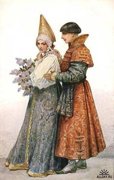 Words of love, by Sergey Solomko (1867-1928), Russian painter of the latest 19th-beginning of the 20th centuries. His paintings were closely connected with Russian fairy tales and symbolism, Art Nouveau