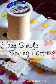Need some projects for the summer? Here is a great list of free simple sewing patterns to try for all kinds of fun projects! http://www.littlehouseliving.com/free-simple-sewing-patterns.html?utm_campaign=coschedule&utm_source=pinterest&utm_medium=Merissa%20Alink%20(Little%20House%20Living)%20(Helpful%20Hints)&utm_content=Free%20Simple%20Sewing%20Patterns
