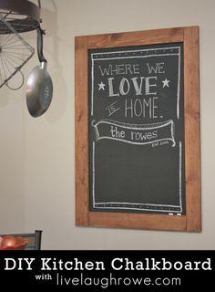 decor, kitchens, diy kitchen chalkboard, chalkboards diy, diy crafts, diy chalkboard, hous, diy idea, kitchen accessories