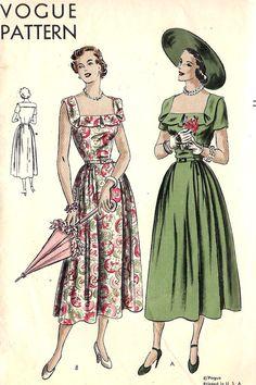 1940s Misses Easy to Make Dress
