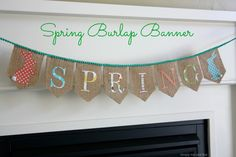 Simply This and that: Spring Burlap Banner