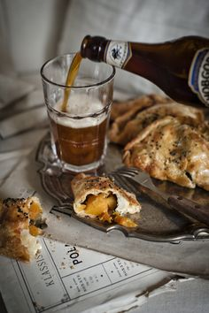 Butternut squash & goats cheese pasties
