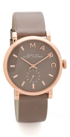 love the gray + rose gold // marc jacobs leather watch